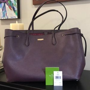 Kate Spade Laurel way tote mahogany large